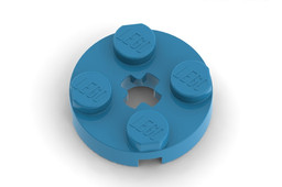 Lego Part 4032 Plate 2 x 2 Round With Colours