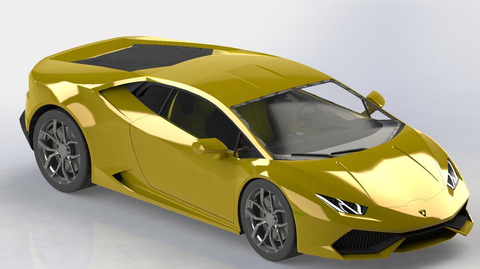 Lamborghini Huracan Lp610 4 Solidworks 3d Cad Model