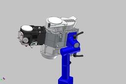 Column legs +125 cc Motor fixture