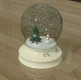 Nucor Christmas snow globe 2014