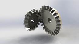 Bevel Gears (24T - 16T, M=3, Ratio 1:1.5)
