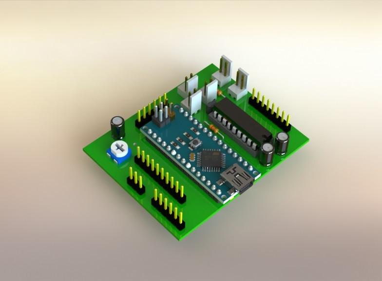 3d printed circuit board(pcb) 3d cad model library grabcad