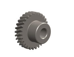 Helical gear with involute tooth profile
