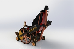 Wheelchair steam punk style
