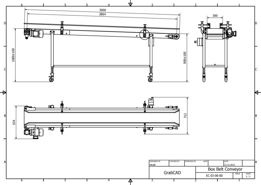 inclined box belt conveyor