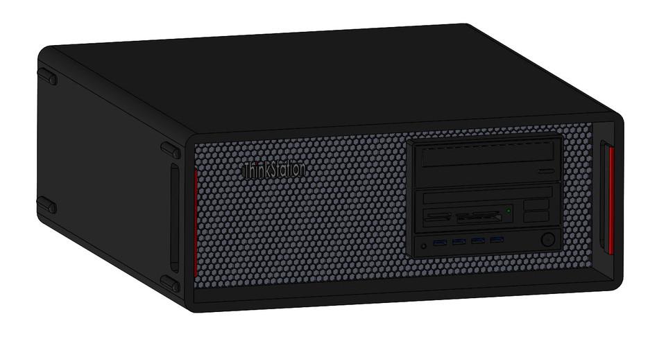Lenovo P500 Desktop Computer Tower | 3D CAD Model Library