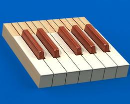 Piano Organ Synth Keyboard