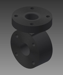 "2"" poly pipe flanged tee"