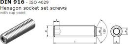 Hexagon socket set screw DIN 916