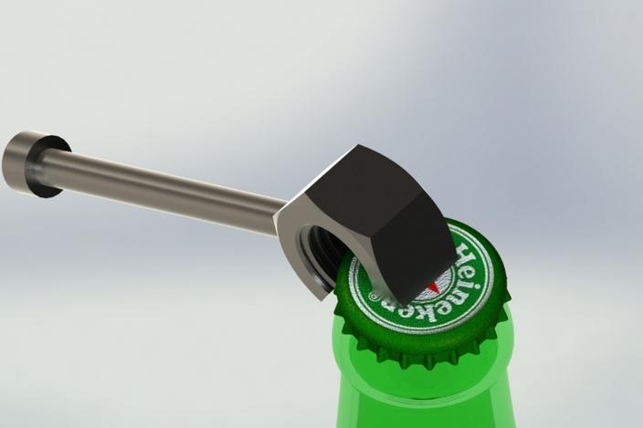 Bottle opener cad
