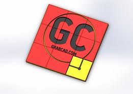 GrabCad puzzle toy, 3x3