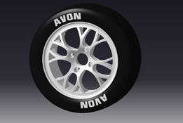 "Compomotive CXR 13"" Motorsport Wheel with AVON Tyre"
