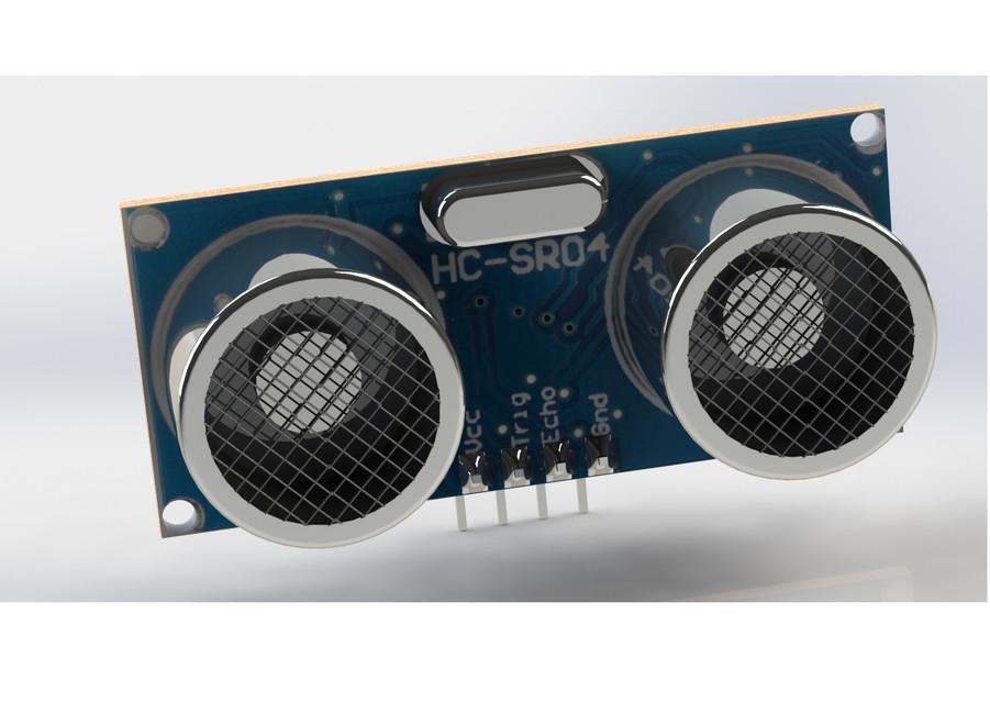 HC-SR04 Ultrasonic sensor   3D CAD Model Library   GrabCAD