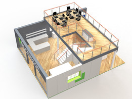 Double Deck Exhibition Stand