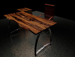 NATURAL OFFICE TABLE SET AYKENT