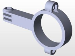 support go pro tube diamètre 41 (fourche z750)