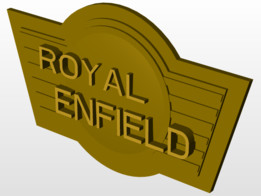 Royal Enfield Golden Sign board using Creo
