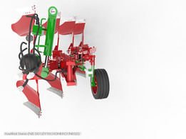 Four furrow reversible plow