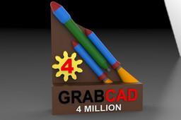 GRABCAD 4 Million Member Trophy