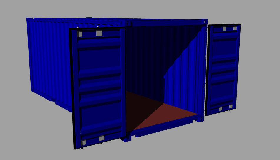 Shipping Container   Rhino,STL,STEP / IGES   3D CAD Model   GrabCAD