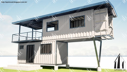 012  CASA CONTAINER Container Home 3D Model