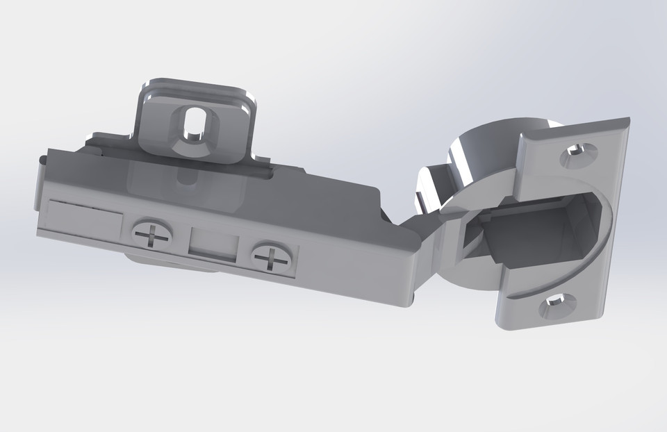 Blum 71B3550 / Hafele 342 42 600 Overlay Hinge | 3D CAD