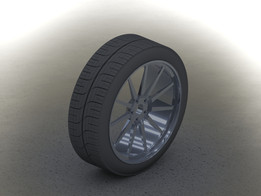 driven wheel