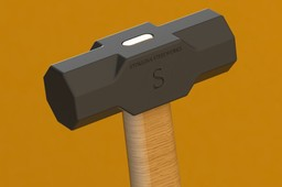 Wooden shafted sledgehammer