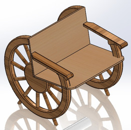 CART WHEEL CHAIR