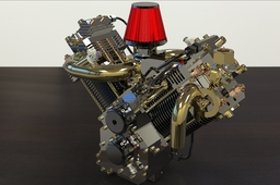 Engine v twin for KeyShot 3D Rendering Competition