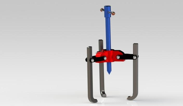 Bearing Puller Cad : Tripod bearing puller stativ med extrator de