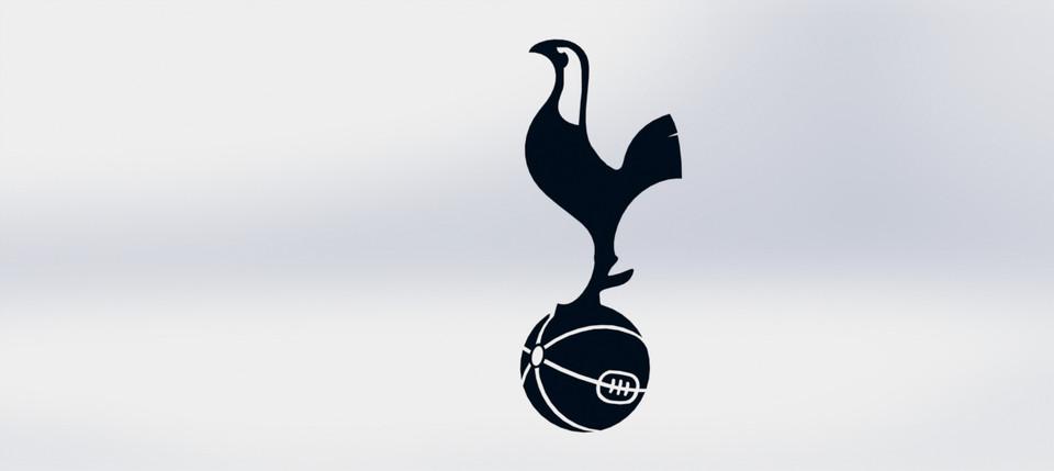 Tottenham Hotspur 3d Logo 3d Cad Model Library Grabcad