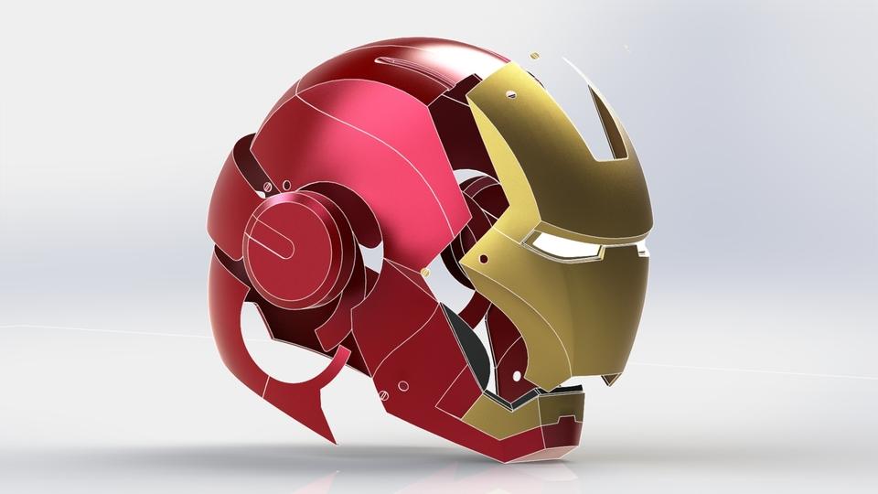 Iron Man Helmet 3d Model Iron Man Helmet Stl