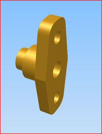 Steam engine components. Steam flange
