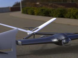 Tricopter powered glider uav