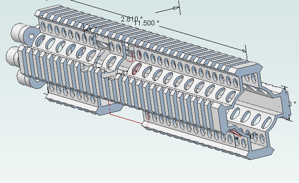 Ar15 handguard lite rail alibre design 3d cad model for My blueprint arkansas