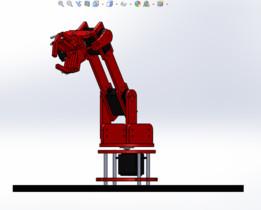 braso robot de 3 grados de livertad