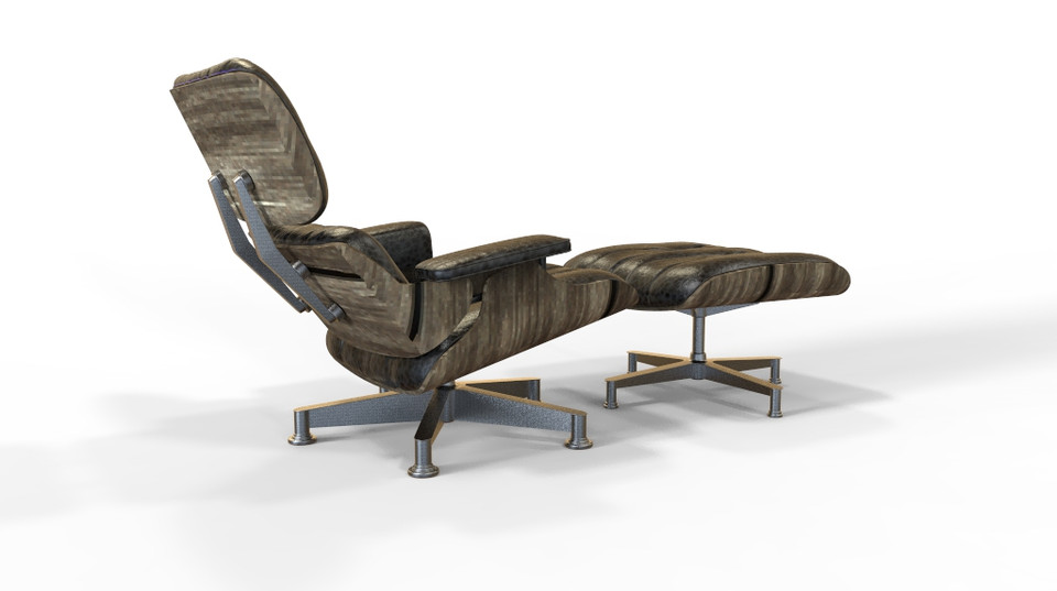 Eames chair   3D CAD Model Library   GrabCAD