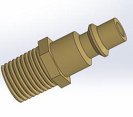 "1/4"" NPT Brass Air fitting"