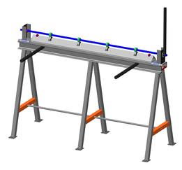 Manually sheet bender (Ручной листогиб)