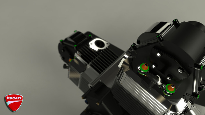 Render for Ducati v2 engine by Cameroon Reid