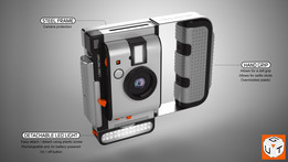 ''Lomography Camera'' protection casing with accessory mount