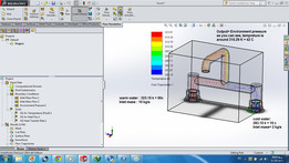 Tutorial 23:Combination of cold and warm water in Faucet.( Solidworks Flow simulation)