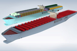 Container Ship Model ( Elly Maersk )