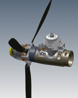 Variable pitch propeller for a F1C