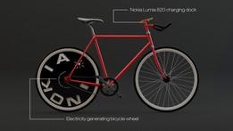 Nokia Lumia Power Generating Bicycle Wheel