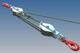 Rope climbing chain hoist .