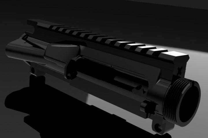 ar-15 upper | 3D CAD Model Library | GrabCAD
