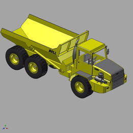 Bell B30 Dump Truck for 3D printing - Scale 1 in 32