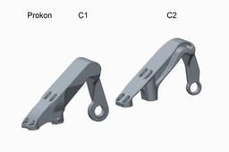 Prokon flap bearing brackets